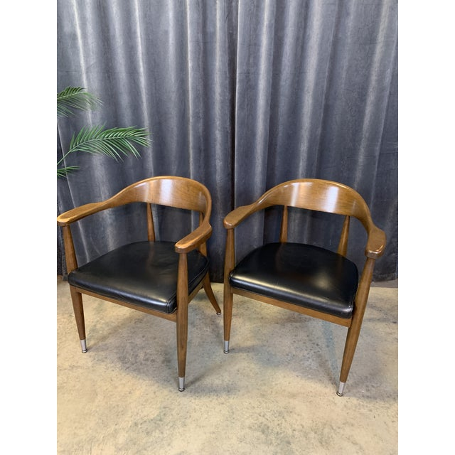 Mid-Century Modern Boling Chair Co. Sculptural Arm Chairs - a Pair For Sale - Image 9 of 12