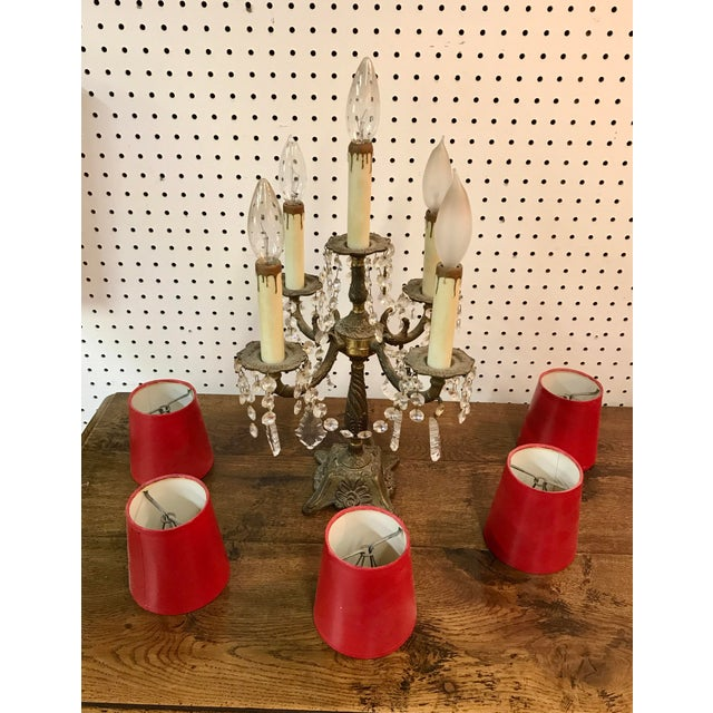 Red Vintage French Table Top Chandelier For Sale - Image 8 of 11