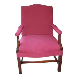 Pennsylvania House Chippendale Style Upholstered Library Chair
