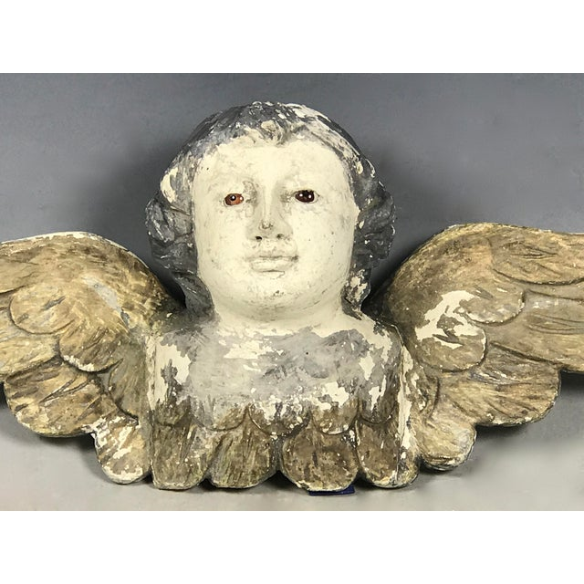 Handcarved Wood Winged Cherub - Image 4 of 8