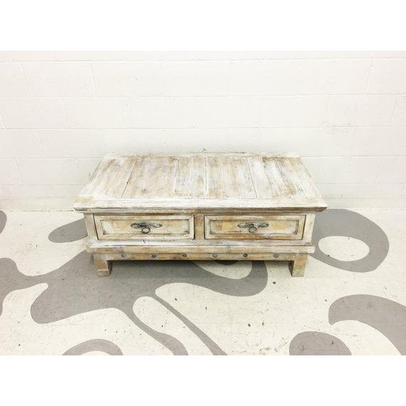 Vintage Mexican Pine Coffee Table For Sale - Image 6 of 6