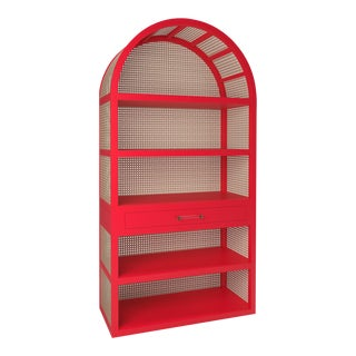 Leila Etagere Bookcase - Bull's Eye Red For Sale