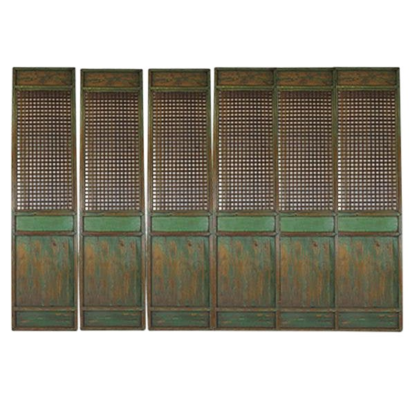 1900s Antique Chinese Lattice Panels- Set of 6 For Sale