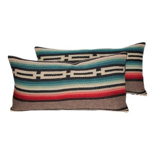 Pair of Mexican Serape Pillows For Sale