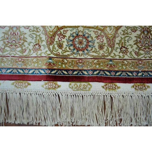 Hand Knotted Turkish Silk Rug - 3′1″ × 4′5″ - Image 8 of 9