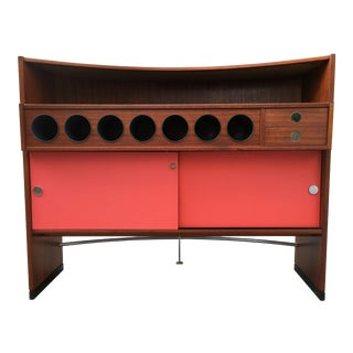 1960s Mid Century Danish Modern Dyrlund Teak Dry Bar