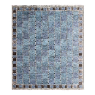 Large Swedish Mid Century Modern Scandinavian Design Large Wool Rug - 13'0 X 15'0 For Sale