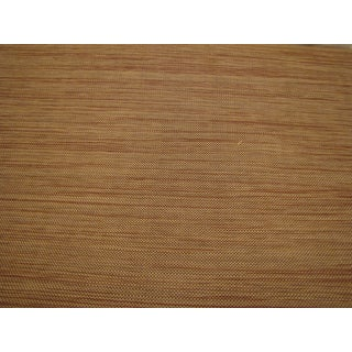 """Vintage Schumacher Grasscloth Wallpaper """"Akina Strie"""" in Color 'Sepia' - 3 Double Rolls For Sale"""