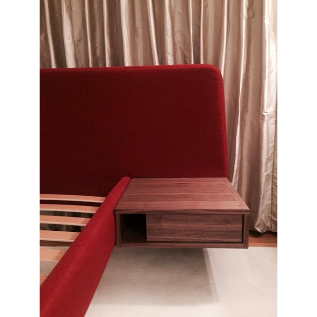 Design Within Reach Red Upholstered Wide Bed - Image 3 of 8