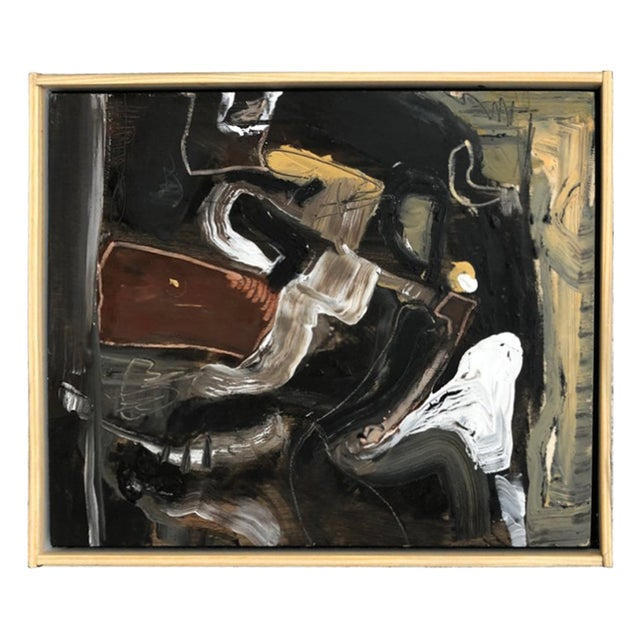 Contemporary Oil on Wood Abstract XIII by William McLure For Sale