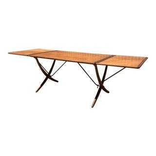 Mid-Century Modern Hans Wegner Sabre Leg Dining Table For Sale