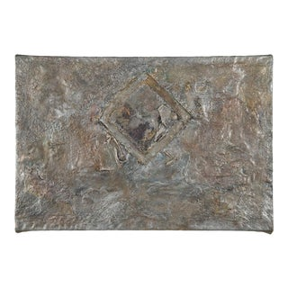 """Mixed-Media Modernism Painting, """"H20"""" on Canvas by Gladys Goldstein For Sale"""