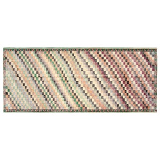 "1960s Turkish Art Deco Rug- 4'2"" X 9'10"" For Sale"