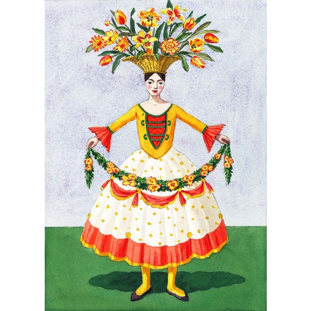 """""""Flower Lady With Garland"""" Giclée Print - Image 3 of 3"""