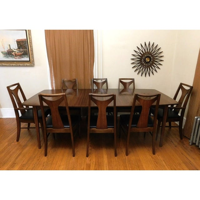 Danish Modern Mid Century Kent Coffey Perspecta Dining Table 8 Chairs Set For