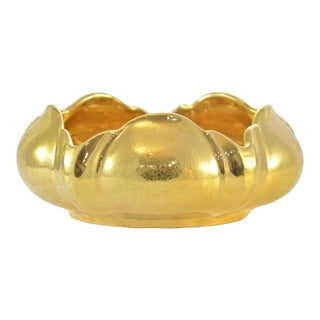 Vintage Gold Lotus Flower Bowl For Sale