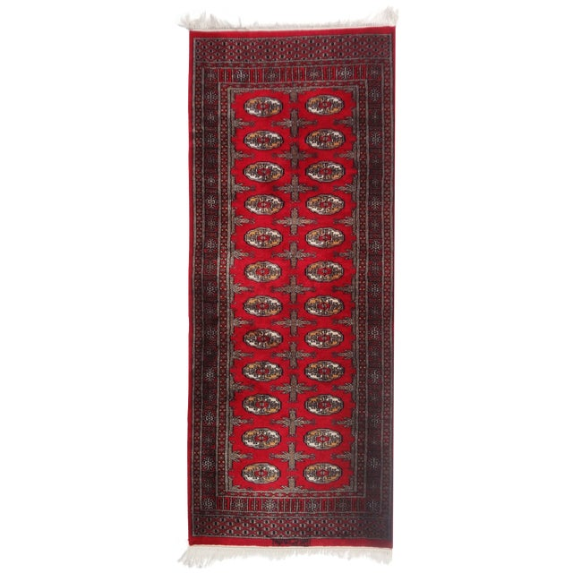 """Hand-Knotted Red Runner Rug - 2'6 x 6'4"""" - Image 1 of 11"""