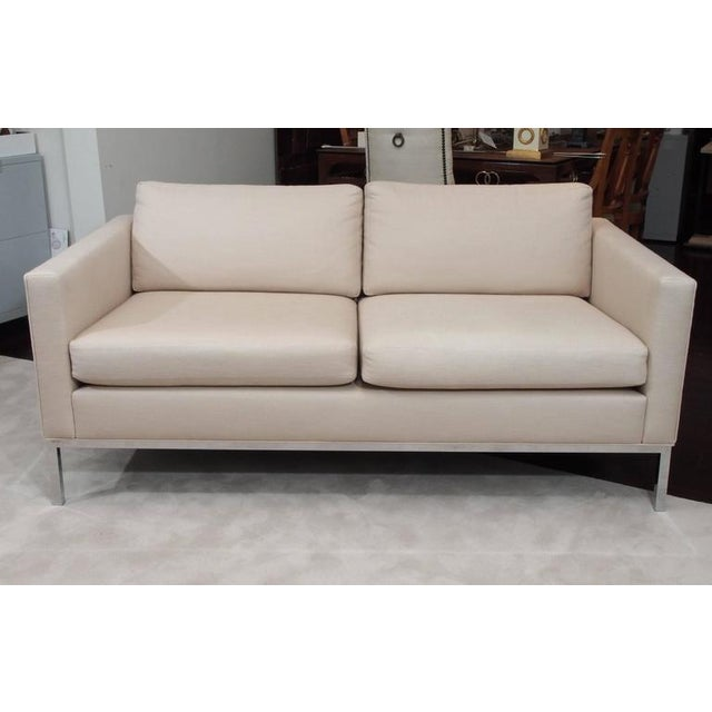 Knoll Style Upholstered Sofa For Sale - Image 4 of 7