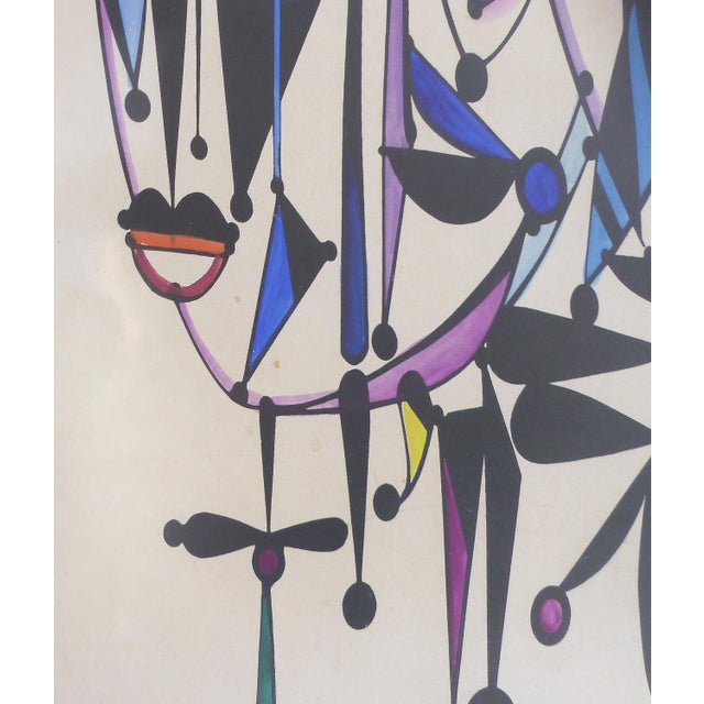 Mid-Century Modern 1970 Abstract Lithograph by Cuban-American Artist Jose Maria Mijares For Sale - Image 3 of 8