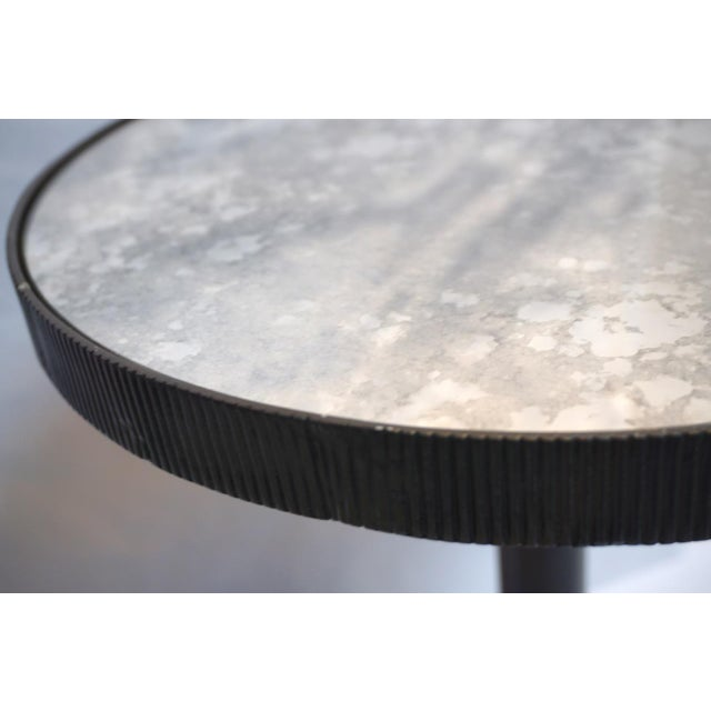 Bernhardt Lumiere Adjustable Black Mirrored Top Accent Table by Bernhardt For Sale - Image 4 of 11