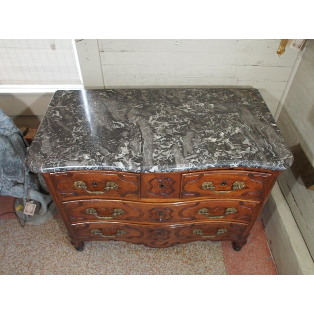 Louis XV Louis XV Period and Signed Walnut Commode For Sale - Image 3 of 9