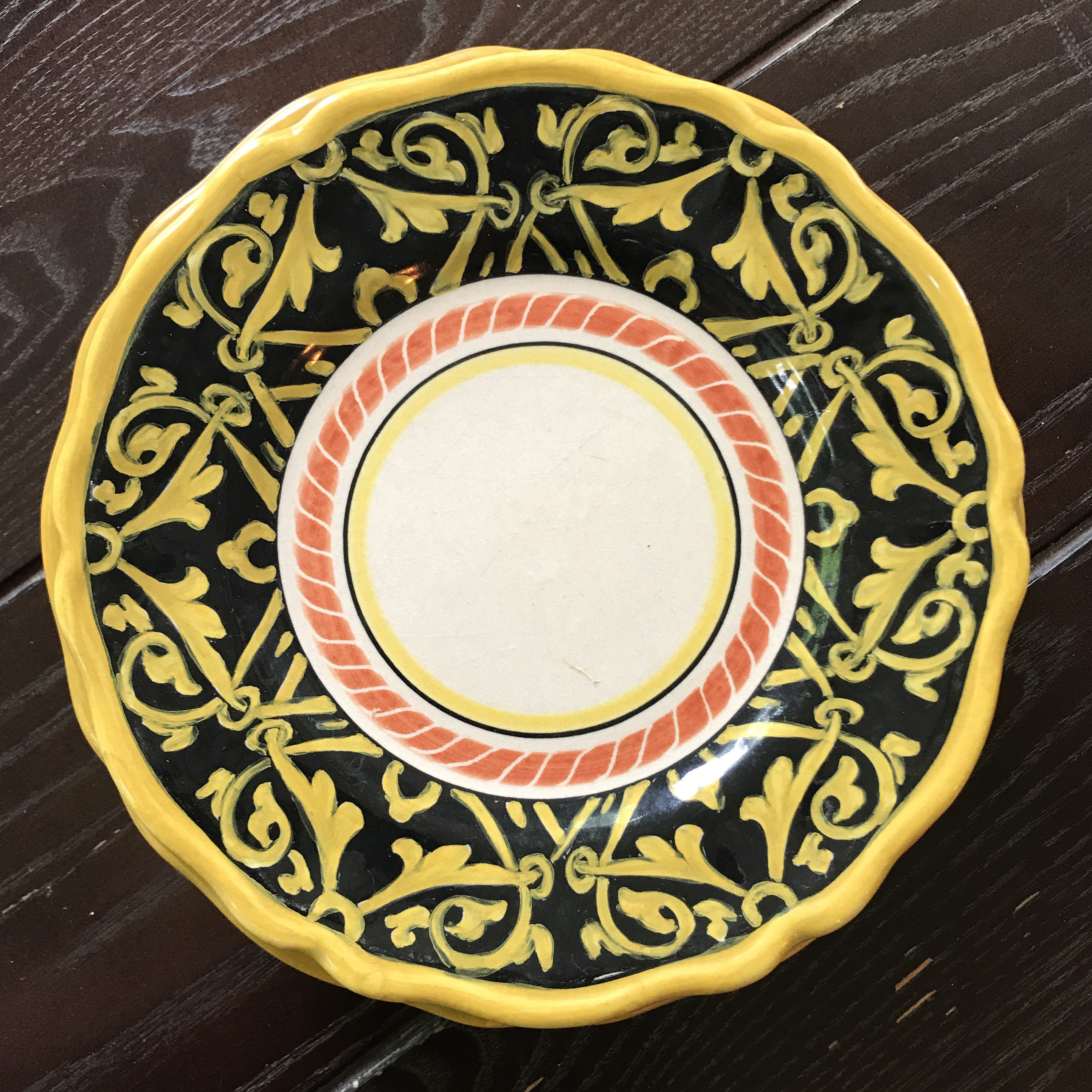 Handpainted Italian Versace Dessert Plates - Set of 6 - Image 6 of 9 & Handpainted Italian Versace Dessert Plates - Set of 6 | Chairish