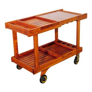 1970s Teak Bar Cart For Sale