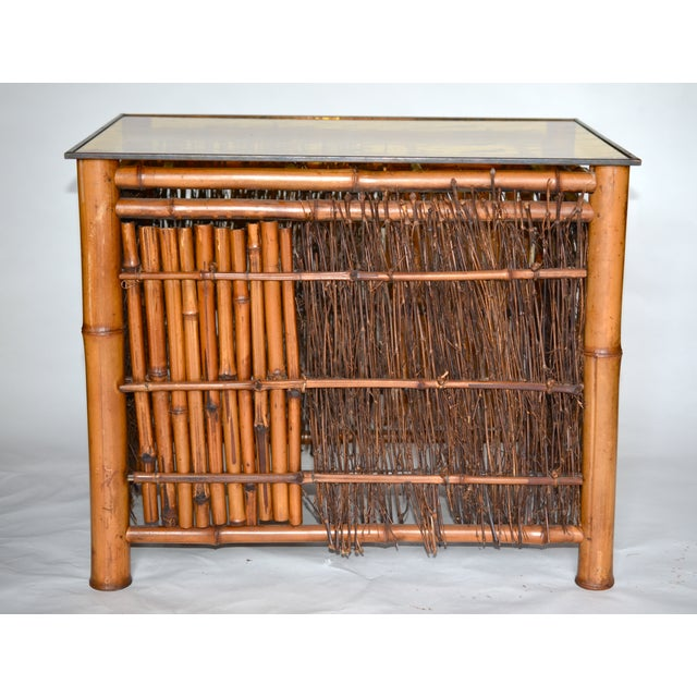 Asian Antique Japanese Bamboo Table For Sale - Image 3 of 8
