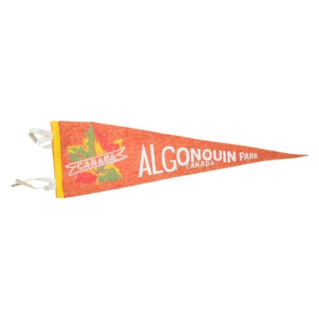 Vintage Algonquin Park, Canada Felt Flag Banner For Sale
