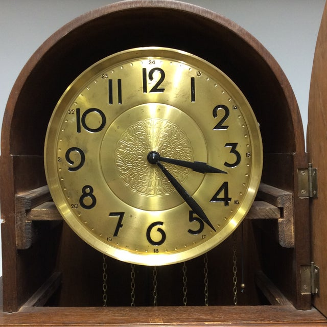 Antique Early 20th Century A. Kieninger German Grandfather Clock For Sale - Image 4 of 13