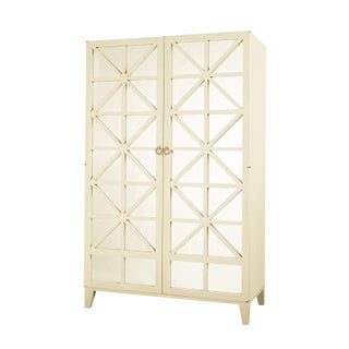 Contemporary Hickory Chair Off-White Cleo Bar Cabinet
