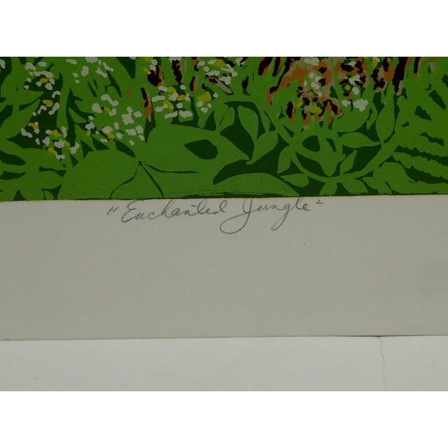 "Miriam Ecker Signed Numbered (123/275) ""Enchanted Jungle"" Print For Sale In Pittsburgh - Image 6 of 8"