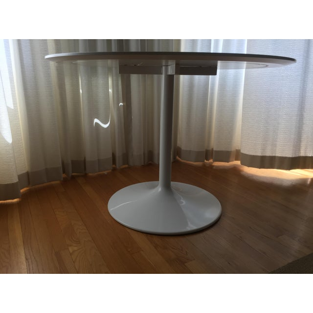 2010s Room and Board White Aria Table For Sale - Image 5 of 5