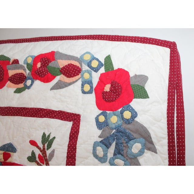 1930s 20th Century Hand Made Repro Applique Quilt For Sale - Image 5 of 8