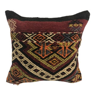1970s Turkish Handmade Kilim Pillow Cover For Sale