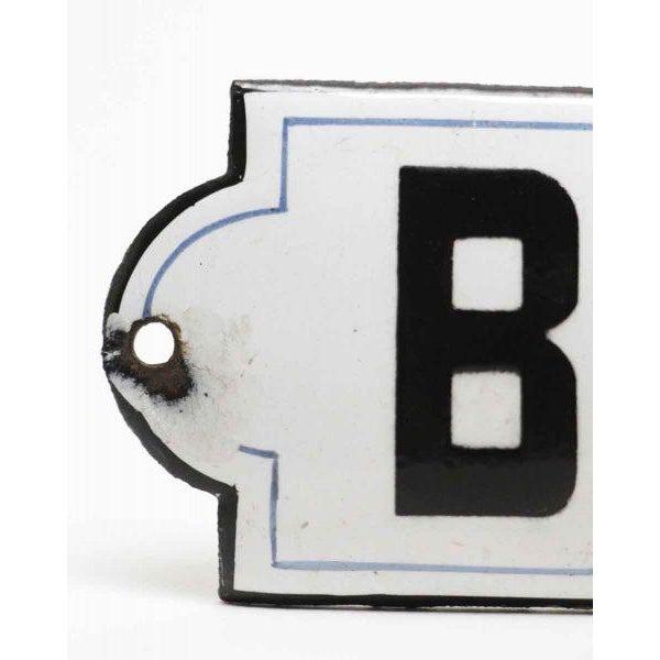 "French ""Bureaux"" Black & White Enamel Offices Sign - Image 2 of 4"