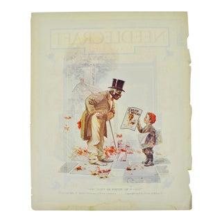 1922 Cream of Wheat Print Ad, Sho Dat's De Papah Ah Wants, Edw. V. Brewer Art For Sale