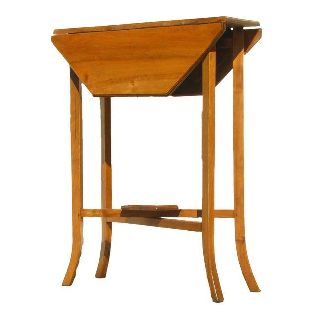 English Narrow Drop Leaf Table - Image 3 of 4