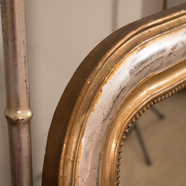 Louis Philippe Giltwood and Silvered Louis Philippe Mirror For Sale - Image 4 of 8