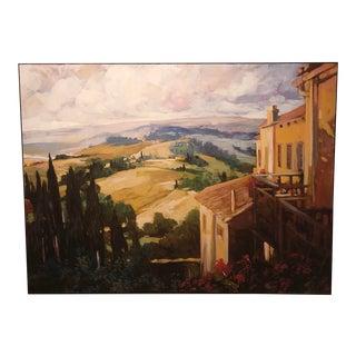 Tuscan Landscape Canvas Print For Sale