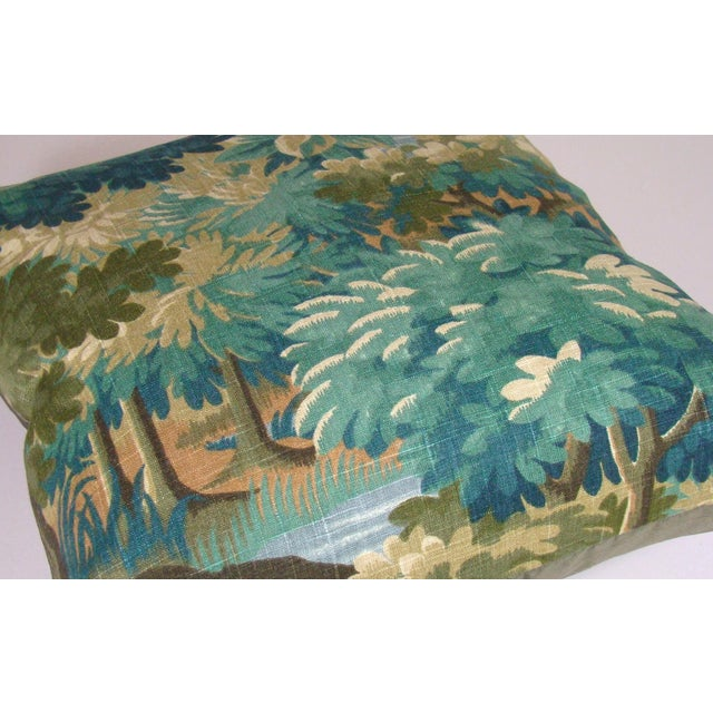 Verdure Print Linen Pillow Cover For Sale - Image 4 of 8