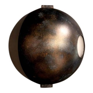 F. Dad Moon Wall Lamp in Brass For Sale