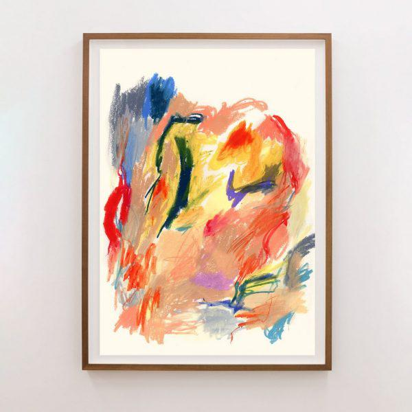 """Abstract Expressionism """"Ra"""" Unframed Print For Sale - Image 3 of 3"""