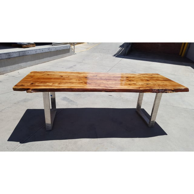 Acacia Wood Live Edge Dining Table - Image 9 of 9