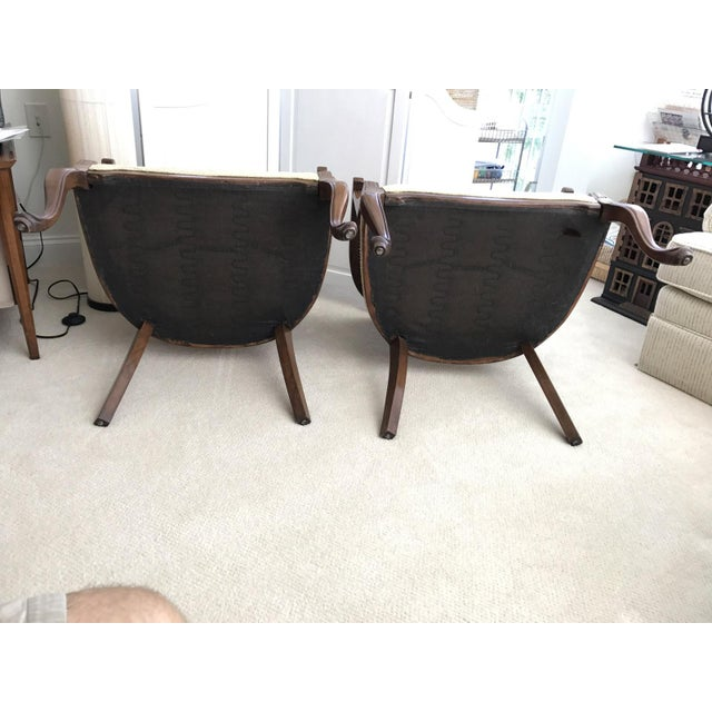 Barrel Cane Work Chairs - A Pair For Sale - Image 11 of 11