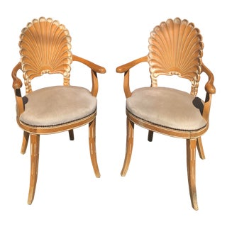 Italian Seashell Chairs- a Pair For Sale