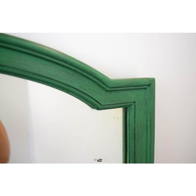 Cottage Vintage Green Mirror For Sale - Image 3 of 9