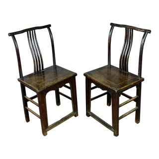 1900's Antique Chinese Chairs- A Pair For Sale