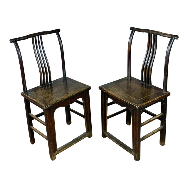 1900's Antique Chinese Chairs- A Pair - 1900's Antique Chinese Chairs- A Pair Chairish