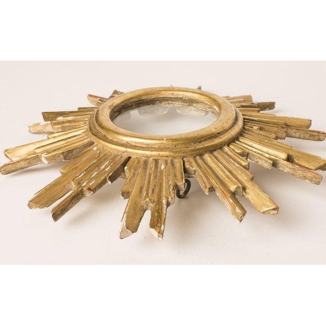 French Gilt Wood Sunburst Religious Relic - Image 5 of 6